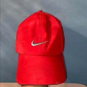Women's coral nike golf hat